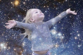 Child Greeting the Universe
